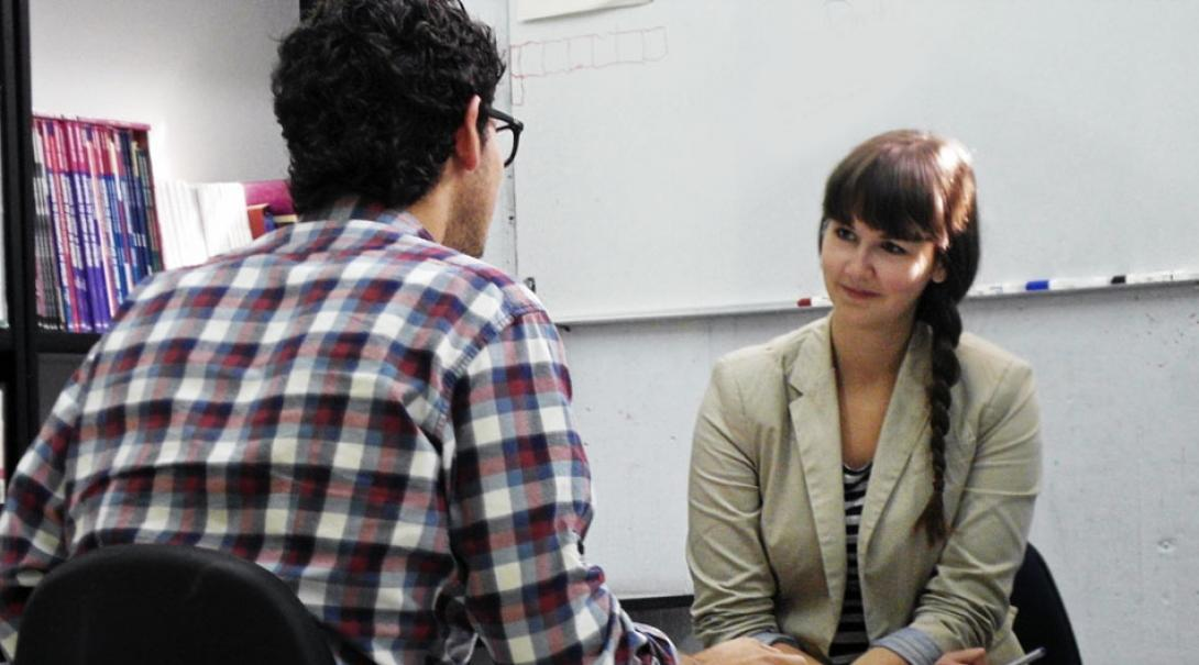 A student learns Spanish in Mexico with a professional tutor.